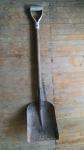 Gray Handled Square Shovel