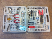 Socket set with pliers and other basic tools