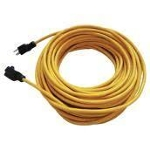 50 ft outdoor extension cord yellow