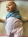 Babywearing Demo Doll - white, no hair, blue eyes, weighted