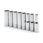 "Deep Socket Set - Metric - 1/2"" - 8 pc."
