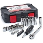 "Husky 92 Piece Combo 1/4"" and 3/8"" Socket Wrench Set"