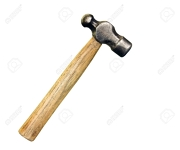 """13 1/2"""" Ball Peen Hammer Wooden Handle"""