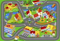 Verkeerstapijt Quiet Town 95x133cm
