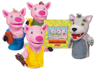 Public Library Only The Three Little Pigs Storytelling Puppet Set