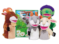 Public Library Only The Three Billy Goats Gruff Storytelling Puppet Set