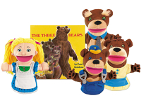 Public Library Only Goldilocks & the Three Bears Storytelling Puppet Set