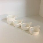 Set of Measuring Cups (Set of 4) White