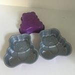 Cake Pan (Small Teddy Bear Shape) Set of 3