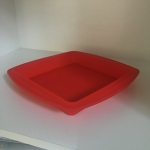 Cake Mould (Silicone - Square) Red