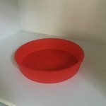 Cake Mould (Silicone - Round) Red