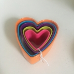Set of Heart Shaped Cookie Cutters (Set of 5)