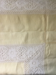Tablecloth - Cloth (Yellow with lace edge)