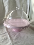 Cake Stand and Cover (Pink)