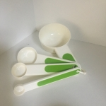 Set of Measuring Spoons (Set of 4) White/Green