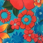 Tablecloth - Mexican Oilcloth (Light Blue)
