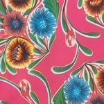 Tablecloth - Mexican Oilcloth (Pink)