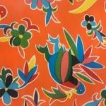 Tablecloth - Mexican Oilcloth (Orange)