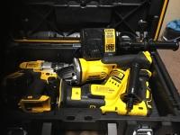 Dewalt cordless drill, grinder, sawzall