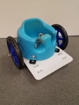 Bumbo Wheel Chair Blue Wheels