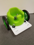 Bumbo Wheel Chair Green Wheels