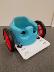 Bumbo Wheel Chair Red Wheels