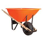 Wheelbarrow,], Large, Poly Orange