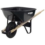 Wheelbarrow,], Large, Metal, Black