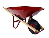 Wheelbarrow, small, red, metal