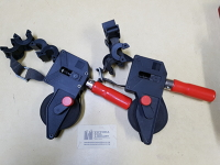 Clamps, strap, variable angle, pair
