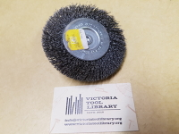 Wire wheel brush, crimped