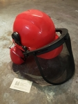 Hard Hat with face shield & earmuffs