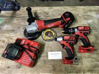Power Tool Kit with Angle Grinder