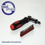 Adjustable Screwdriver Set with Bits