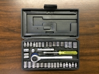 Ratchet and socket set, 40 pc.