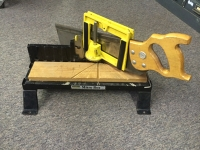 Backsaw and miter box