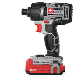 Impact driver, cordless, 1/4""
