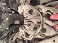 SBP Pavo Confetti Noir White Ring Sling