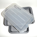 Baking Pans, Set of 2 Pans and 1 Lid