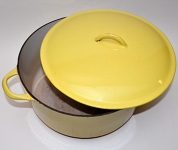 Yellow Cast Iron Pot