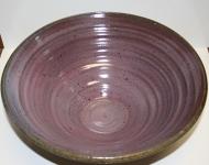 large ceramic serving bowl purple