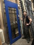 Large glazed door