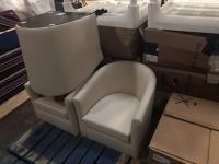 White bucket seat