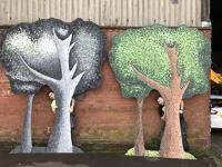 Pointillist tree flats
