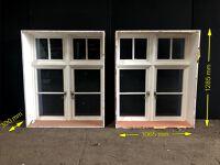 Practical twin window (polycarbonate glazing)
