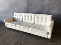 Whitre leather sofa