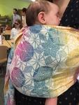 Rainbow kaleidoscope ring sling