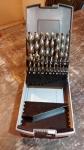 Jogo de Brocas HSS 19 peças (1 a 10mm) para metal