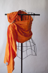 Comfy Joey Linen Ring Sling Size M Boracay Citrus Orange with Comfy Joey Hybrid Shoulder