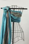 BB Slen Blue Curacao Ring Sling- Pleated Shoulder